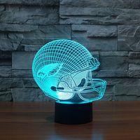 אשליה 3D LED מגע מנורת שולחן USB צורת NFL ספורט 7 צבעים פילדלפיה איגלס Lampara מנורת לילה מנורת שולחן לילדים לילדים