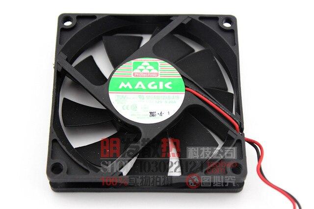 80158 cm 8 cm bolas doble ventilador del disipador de calor 0.23A MGA8012XB-A15 12 V