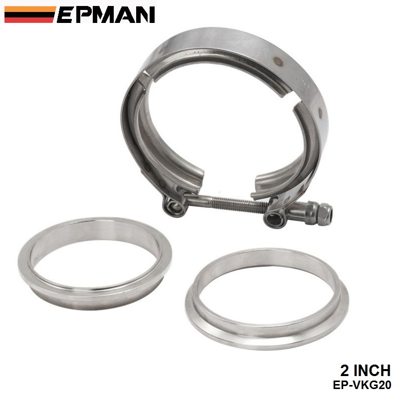 """Universal Upgraded 2.0"""" V band clamp fit all style exhaust ..."""