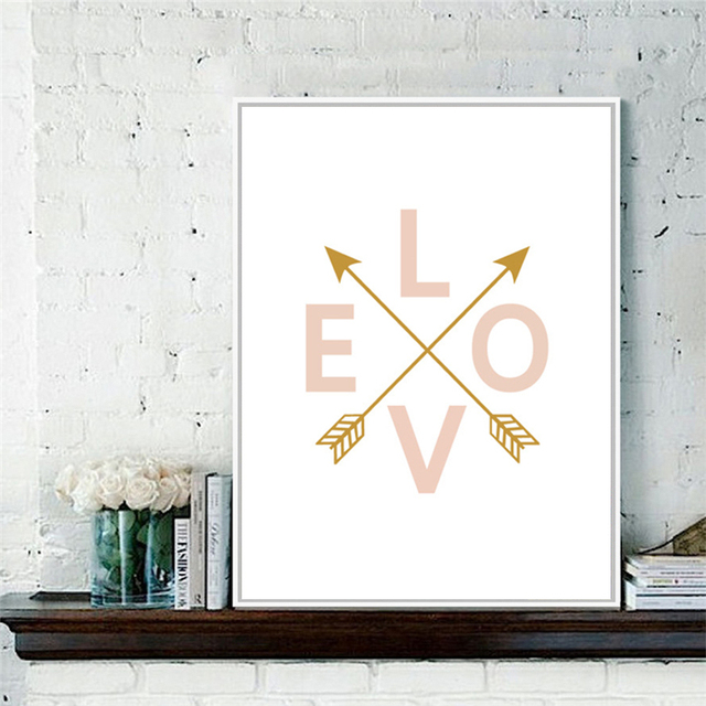 Character Love Nordic Style Decoration Canvas DIY Painting Mural ...
