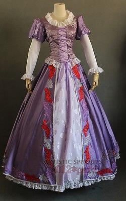 Custom Tangled Beautiful Rapunzel Princess Costume Cosplay purple dress