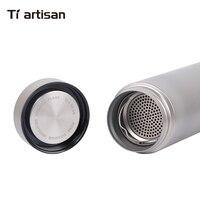 Tiartisan открытый Титан утепленная термос с чай фильтр двойными стенками Кемпинг бутылка для воды 400 мл Ta8401Ti
