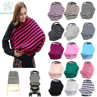 Baby Car Seat Cover Canopy And Nursing Cover Multi Use Stretchy Infinity Scarf Breastfeeding Shopping Cart