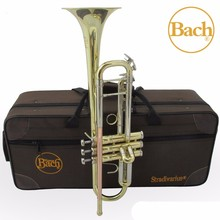 Bach TR 800G Bb Trumpet Instruments Gold and Silver Lacquer Plated Brass Musical Instrument Bb Trumpet Professional