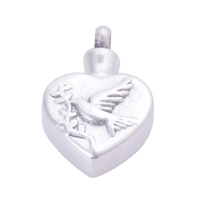 Heart Shaped Memorial Urn With 3D Bird