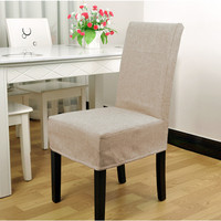 Fashion cotton chair cover office kitchen chair covers party wedding banquet decor beige/grey/green color