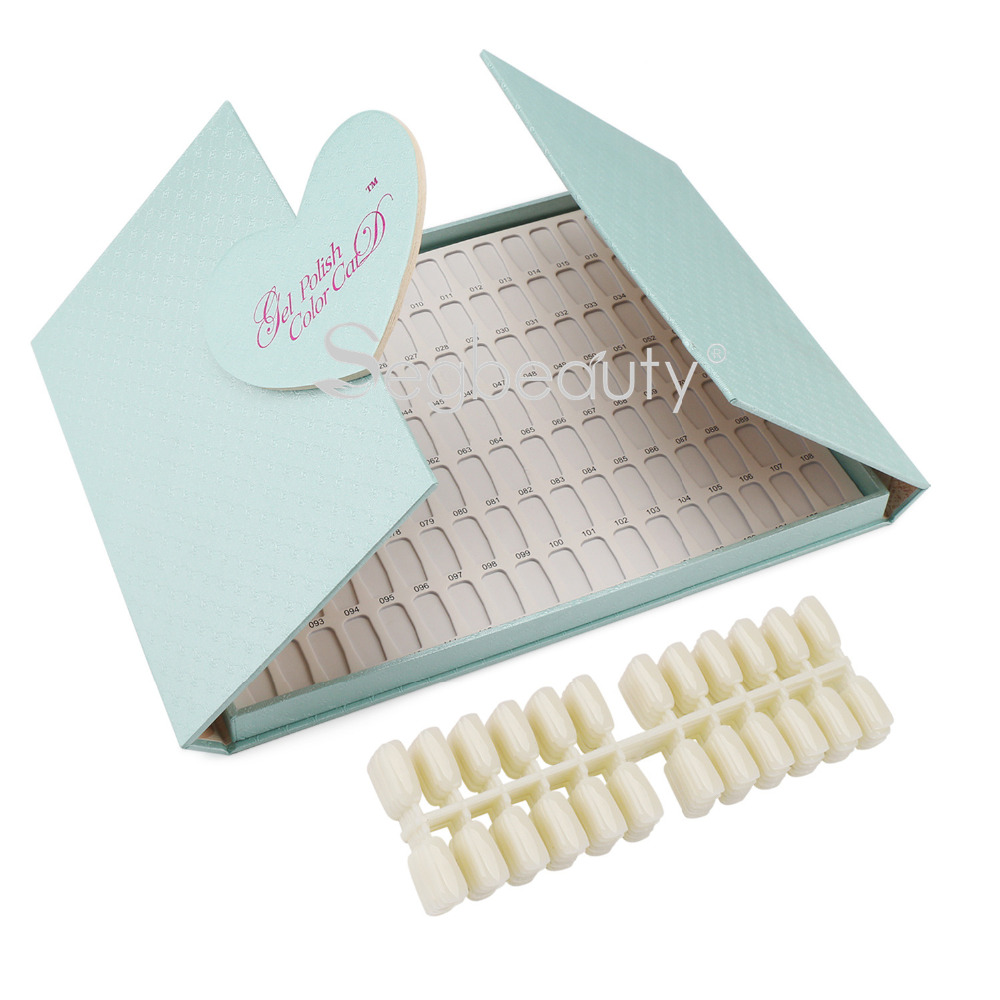 все цены на Nail Display Book with Tips, 126 Colors Gel Polish Colour Chart 144 False Nail Tips, Professional Salon Color Chart Display Card онлайн