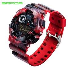 SANDA 289 Hommes Automatique numérique horloge hommes Mode sport militaire Montre étanche armée de luxe datajust montre-bracelet de bonne qualité
