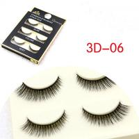 3 Pairs Fashion Makeup Soft Long Nautral Makeup 3D False Eyelashes Black Thick Fake Eye Lashes Extension Beauty Make up Tools [category]