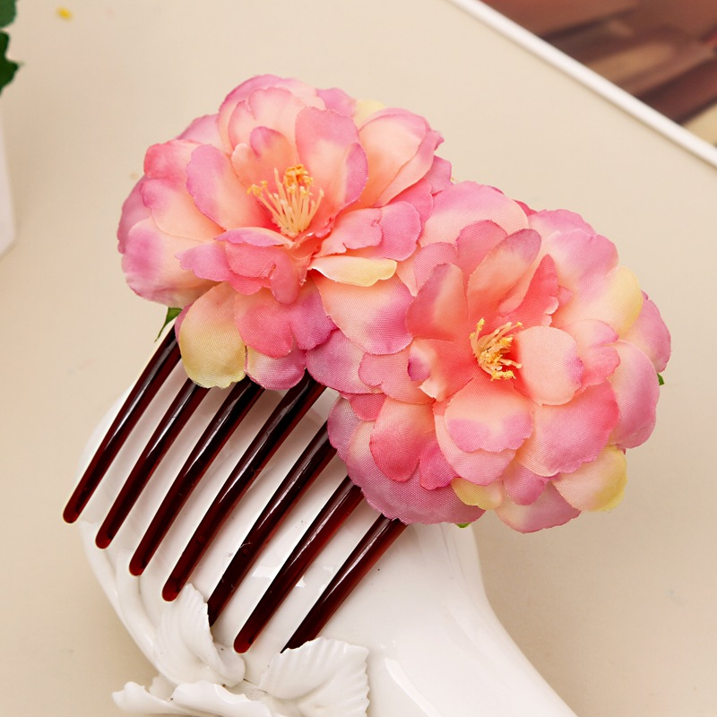New Party Hair Clips Hair Combs Flower Bridal Wedding Headwear Women Girl Bohemia Hairpins Beach Party Barrettes Accessories women girl bohemia bridal peony flower hair clip hairpins barrette wedding decoration hair accessories beach headwear