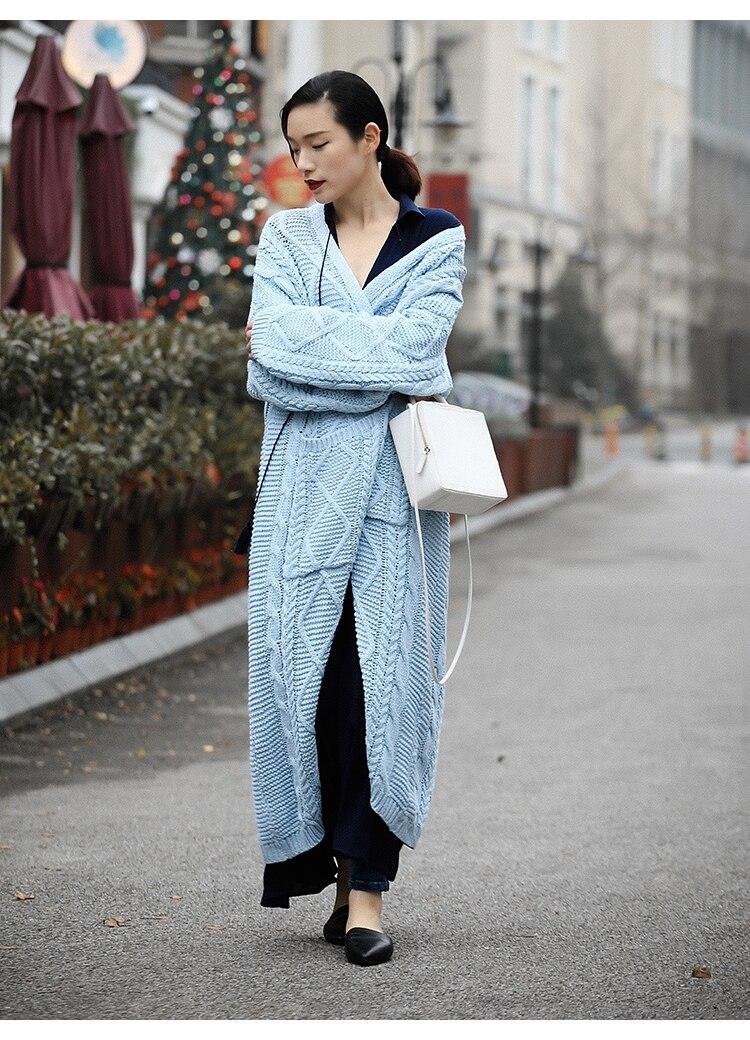 Lâche Femmes Blue Longues Manches Couleur Manteau Taille Poitrine Mode Veste Automne navyblue oloey Unique Chandail Nouveau Solide Épaississement Grande 2018 J739 wqSFw71xf