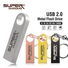 โลหะ USB แฟลชไดรฟ์หน่วยความจำ STICK USB กันน้ำ 128 GB U Disk Key Pendrive 64GB 32GB 16GB 8GB 4GB ไดรฟ์ปากกาฟรีโลโก้