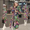2017 Красивый Новый Горячей моды Теплый Новый Зимнее Пальто Дизайн толщиной Проложенный Вниз Хлопок Плюс Размер Тонкий Куртка С Капюшоном На Молнии весна
