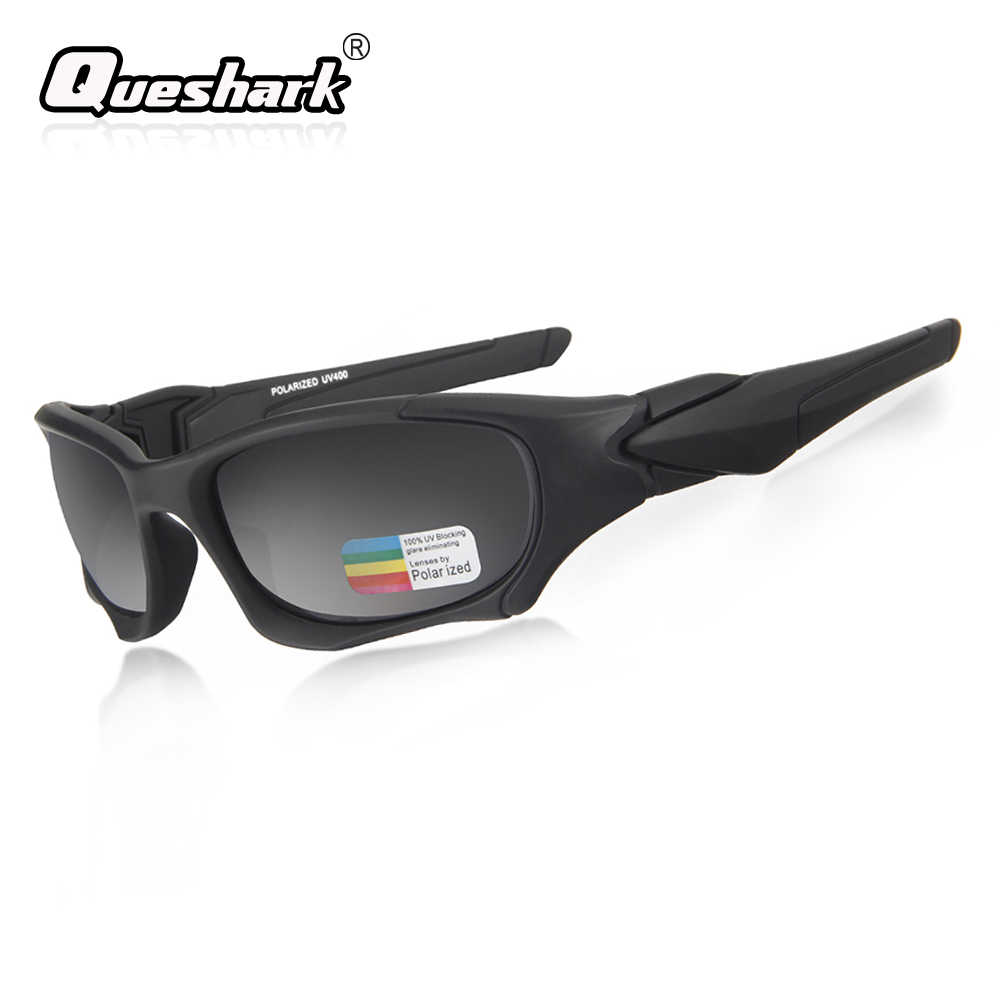28b1ddefc7 Queshark Outdoor Sports Polarized Cycling Sunglasses TR90 Men MTB Bike  Goggles Uv Protection Bicycle Glasses Cycling