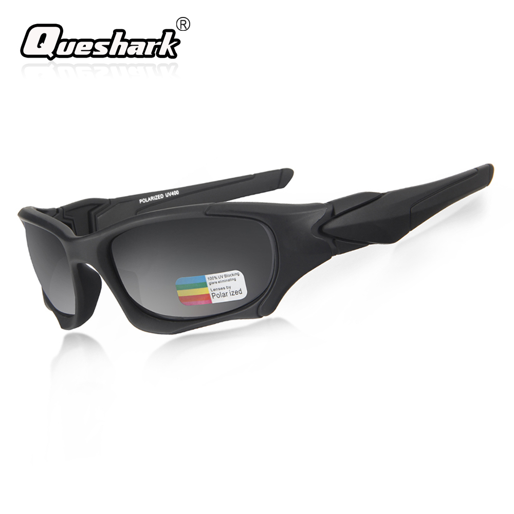 Queshark Outdoor Sports Polarized Cycling Sunglasses TR90 Men MTB Bike Goggles Uv Protection Bicycle Glasses Cycling Eyewear стоимость