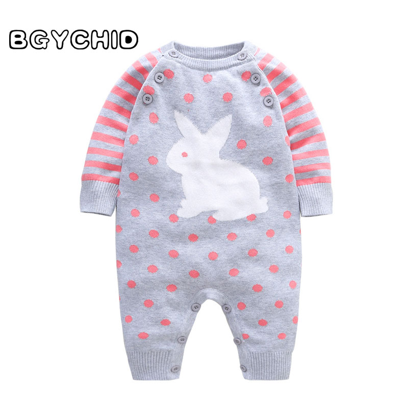 BGYCHID 2018 Wool Baby Girl Clothes Spring Baby Rompers Baby Girl Clothing Infant Jumpsuit Autumn Newborn Clothing Kids Costume newborn baby rompers baby clothing 100% cotton infant jumpsuit ropa bebe long sleeve girl boys rompers costumes baby romper