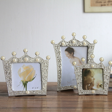 Европейская Золотая Корона фоторамка Смола картина настольная рамка Роскошная фоторамка для дома свадебные декоративные подарок ремесло LFB661