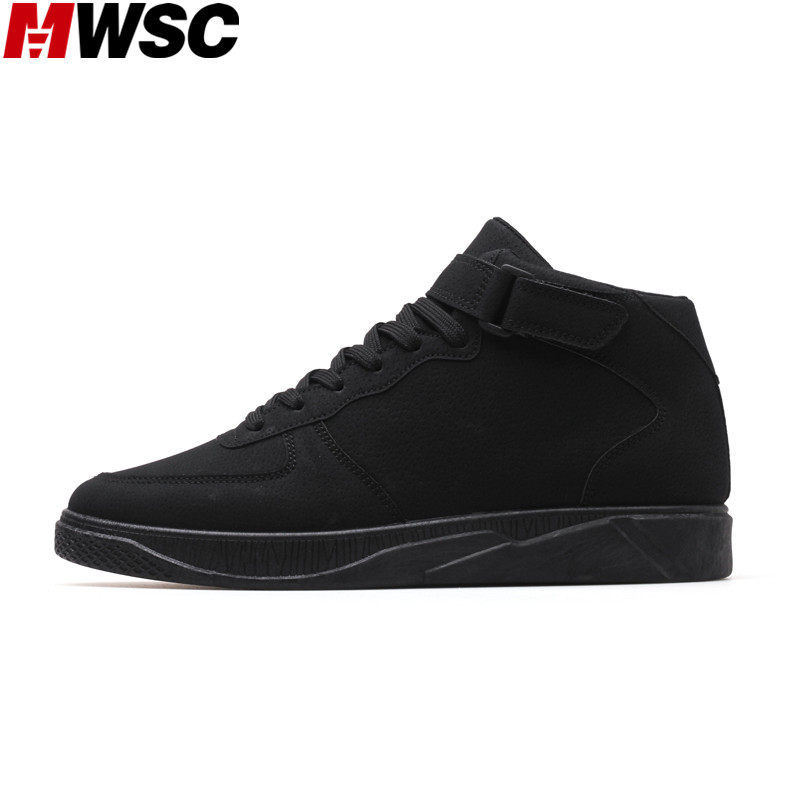 MWSC Spring New Arrival Male Fashion Casual Shoes High Top Men Breathable Lace Up Leisure Leisure Shoes