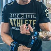 RISE Brand Summer Style Men Fitness T Shirt Crossfit Bodybuilding Slim Fit Shirts Fashion Male Short