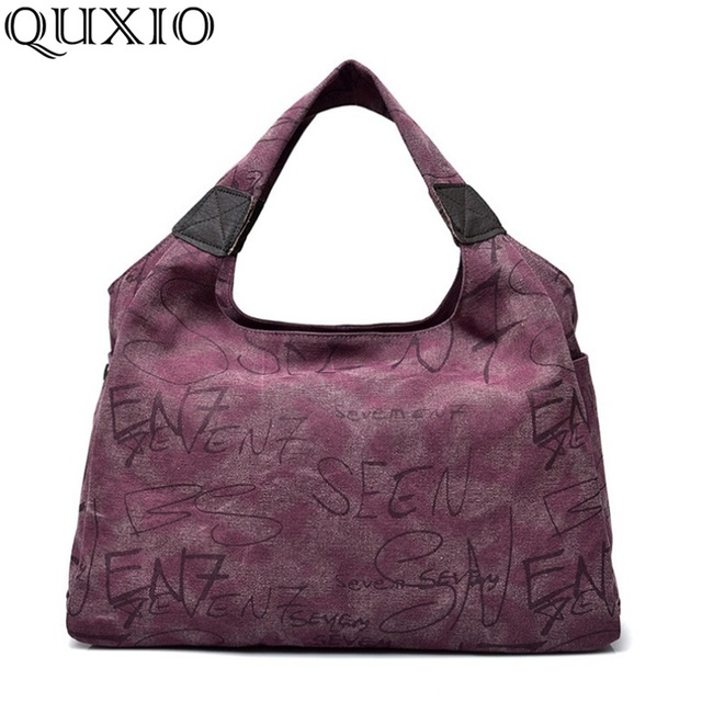 cf25651c3d 2017 Women Beauty Casual Handbag Fashion Letter Design Big Canvas Bags Large  Capacity Vintage Shoulder Tote Female Bag HB133
