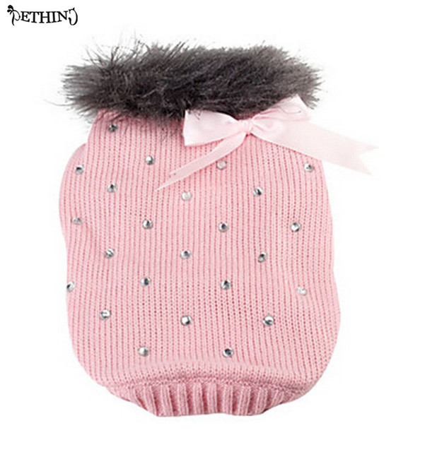 Hot selling Lovely bows patterns wholesale dog clothes cute dog sweater  puppy sweater Pink,blue