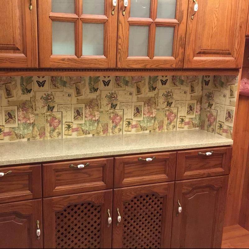 Pvc Waterproof Wallpaper Wardrobe Furniture Stickers Kitchen Cabinet