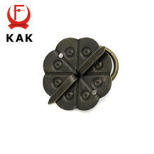KAK 10pcs Classical Bronze Tone Quincunx Drawer Cabinet Desk Door Pull Box Handle Knobs Furniture Handles Hardware With Screws