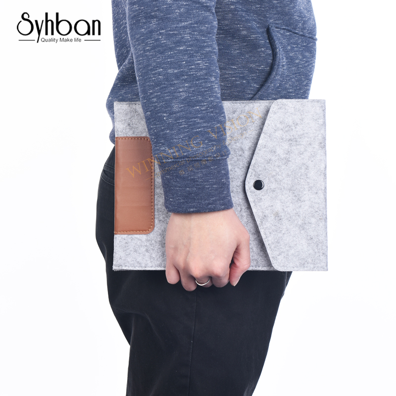 SYHBAN 2018 Woolen Felt Sleeve Bag Case Tablet Cover For Apple iPad Pro 9.7Sleeve Pouch Bag Laptop Bag Anti-scratch Shockproof