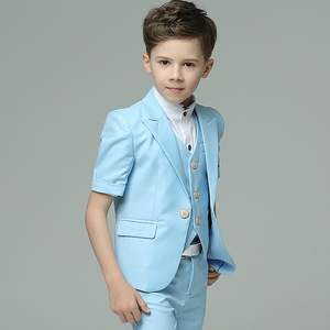 Image 2 - Детская одежда Dollbling синяя белая пудра с коротким рукавом летнее платье удобный костюм на день рождения детский костюм с мелкими швами