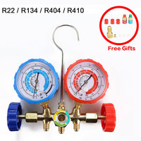 R22 / R134 / R404 / R410 Air Conditioning Manifold Gauge Current Divider Meter Set Air Condition Refrigeration