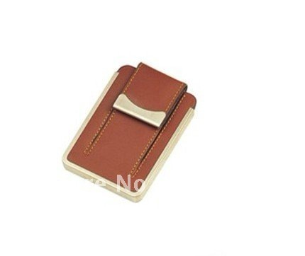 Hot sale fashionable  leather name card holderpromotion gifts MF-42 (printing your logo for free)