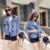 CHICD Mulheres Jeans Casacos de Poeira 2017 Outono Azul Moda Pockets Botão Projetos Estilo Manto Casaco Curto Solto Denim Casacos XC84