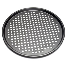 32cm Round Pizza Pan Tray Carbon Steel Non-Stick Oven Pizza Plate Pan Cook