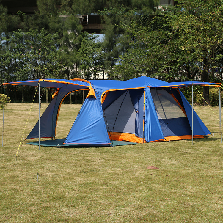 Allongement hall 3-4persons automatique famille anti-grand raning camping en plein air 1 hall 1 salon grande tente comprend mat