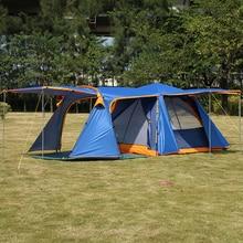 Allongement hall 3-4personnes automatique famille anti-grand raning camping en plein air 1 hall 1 salon grande tente comprend mat