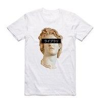 S-XXX для мужчин и женщин Vaporwave красивая футболка короткий рукав o-образным вырезом Harajuku модная футболка уличная Swag