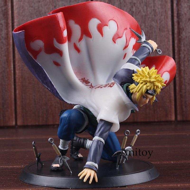Us 20 85 21 Off Naruto Shippuden Figure Naruto Minato Namikaze Art Xtra Pvc Anime Action Figures Collectible Model Toys 14 5cm In Action Toy
