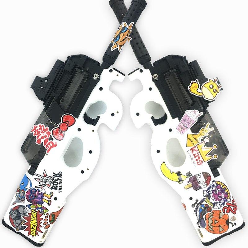 P90 jouet électrique PISTOLET balle en eau Éclate Pistolet Graffiti Édition CS Live D'assaut Snipe Arme En Plein Air Pistolet Jouets lepin - 2