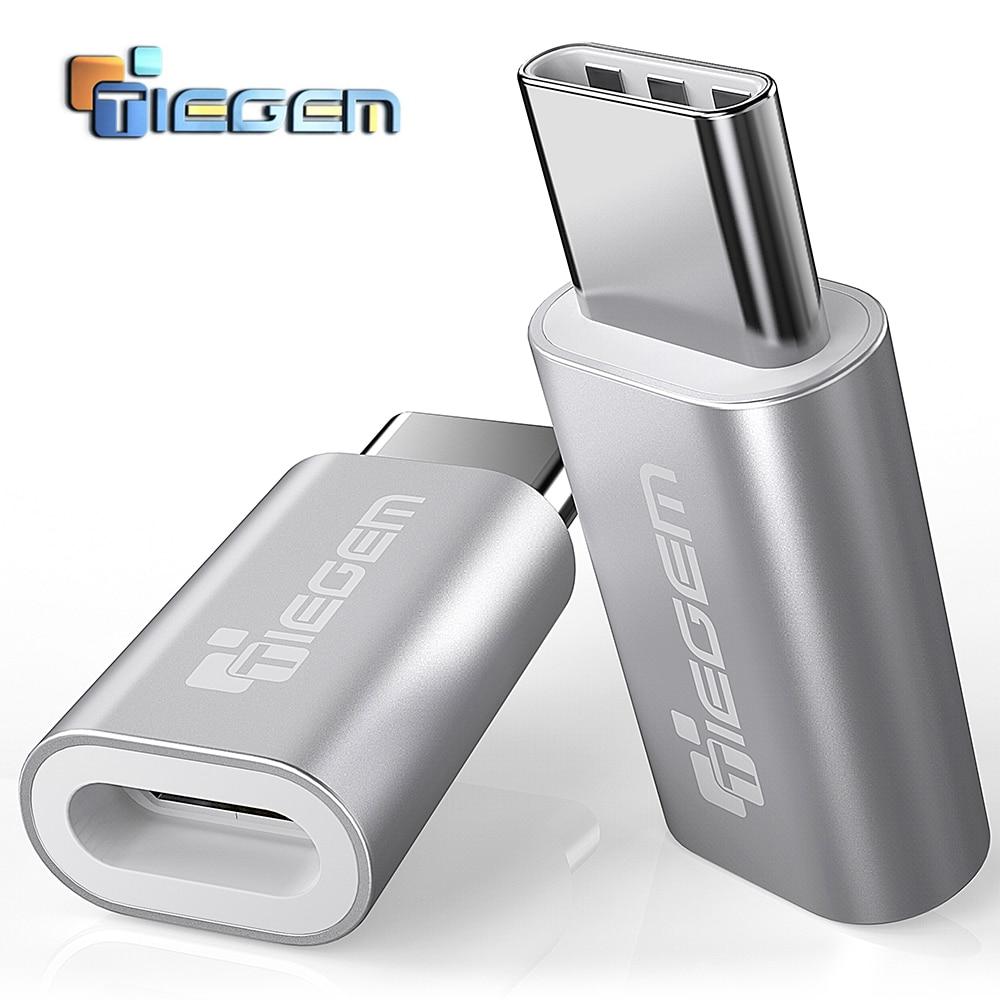TIEGEM USB Type C Adapeter To Micro USB Adapter Fast OTG Type-C Converter For Nintendo Switch OnePlus 5 NEXUS 5X 6P LG G5 Sony