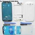 OEM Branco Completa Tampa Da Caixa Para Samsung Galaxy S3 III GT-i9300 ferramentas de Vidro Da Frente Da Tela Adesiva Reparação Parte Substituição