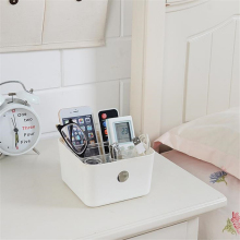 Multifunctional Desk Organizer Washable Home Office Remote Control Storage Box Makeup Organizer Storage Plastic Boxes