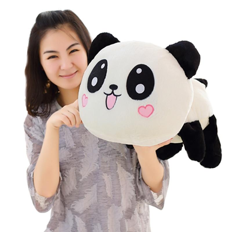 45cm Giant Panda Pillow Mini Plush Toys Stuffed Animal Toy Doll Pillow Plush Bolster Pillow Doll Valentine's Day Gift Kids Gift 1pc oversize huge 80cm funny stuffed simulated panda toy giant filling panda plush doll nice gift and decoration
