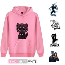 Marvel Avengers Black Panther Cartoon Trendy Thick Men/woman Outfit Hoodie Kangaroo Pocket Winter Junior Sportswear A193291(China)