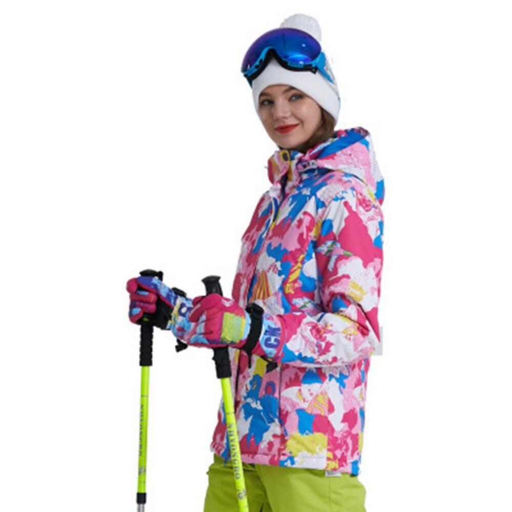 Veste de Ski Snowboard femme veste de neige imperméable Ski Sportswear respirant Super chaud hiver combinaison de Ski manteaux