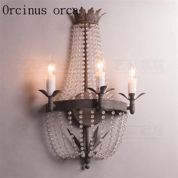 Lámpara de pared vintage de la princesa habitación de los niños lámpara de mesita de noche de la princesa antigua lámpara de pared de cristal envío gratis