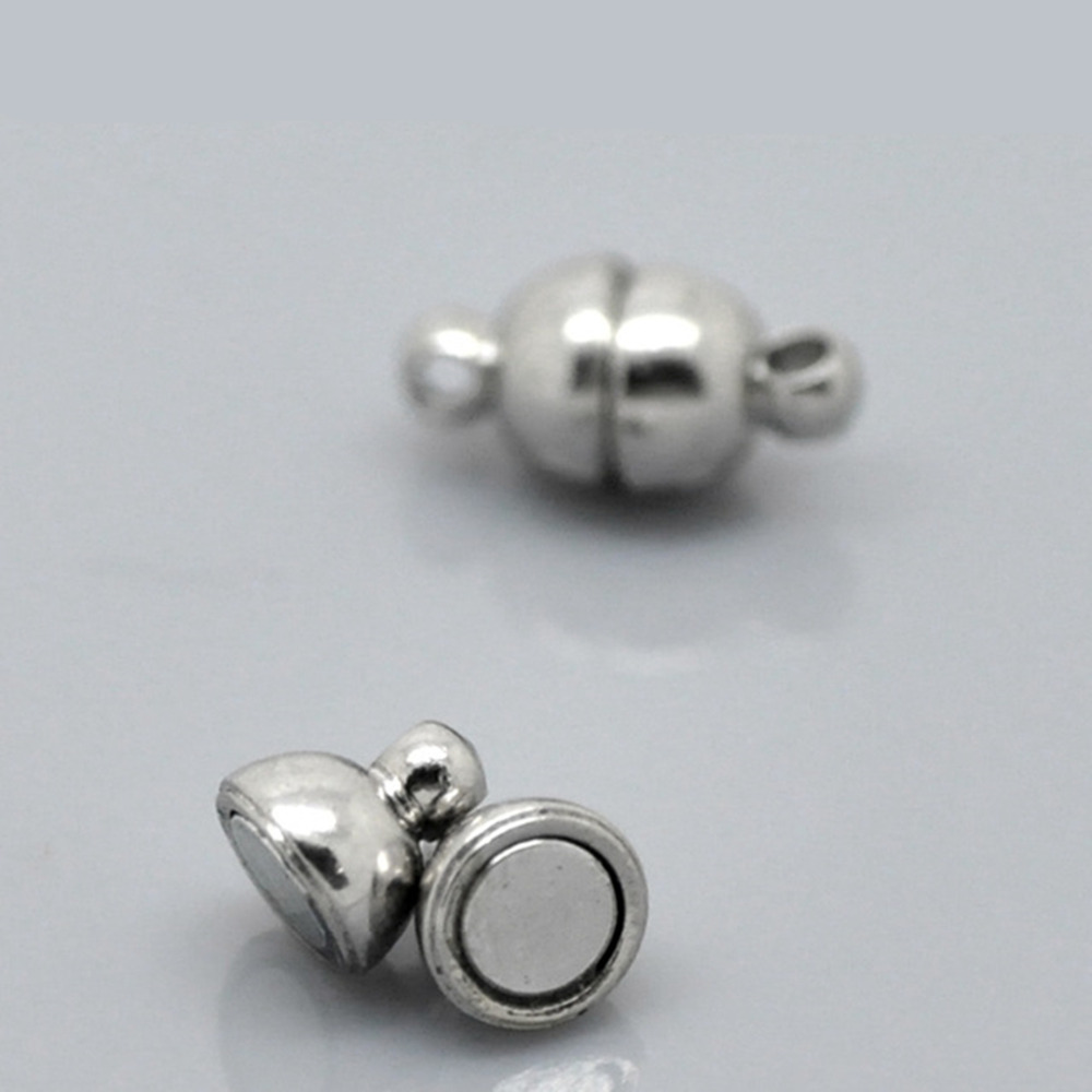 DoreenBeads 1 Sets Silver Tone Magnetic Clasps 12x6mm(4/8