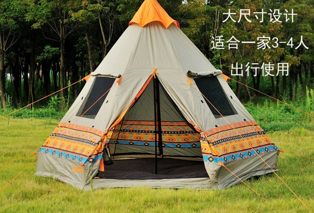 2016 The new fire maple pyramid authentic c&ing tents two door four Windows rain waterproof outdoor recreational c&ing tents-in Tents from Sports ... & 2016 The new fire maple pyramid authentic camping tents two door ...