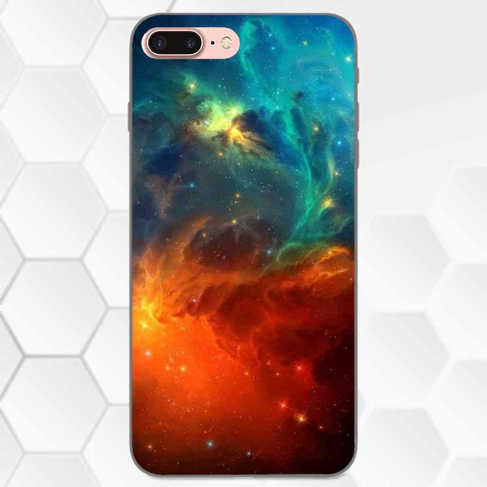 TPU Padrão Rosa Espaço Nebulosa Estilo Céu Estrelado Para Samsung Galaxy Nota 4 8 9 S3 S4 S5 S6 S7 s8 S9 S10 Mais Borda Lite I9080 G313