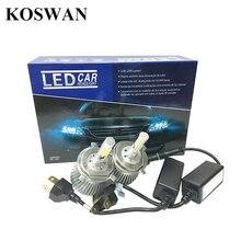 Voiture LED Phare Kit H4 LED Phare Auto COB H4 LED De Remplacement phare Kit Ampoule Salut Lo 32 W 2200lm 6000 K 12 V 24 V Xenon Blanc