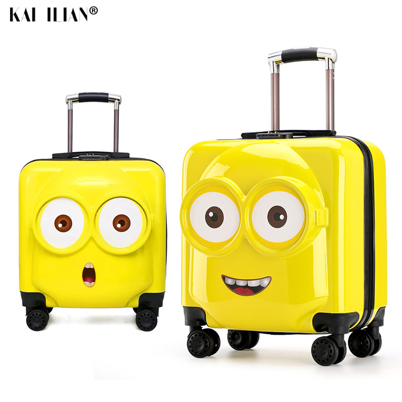 18''20 Inch Kids Suitcase 3D Travel Luggage Children Travel Trolley Suitcase Wheels Child Suitcase Boy Girl Toys Rolling Luggage